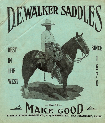 D.E. Walker Saddles - catalog n°31